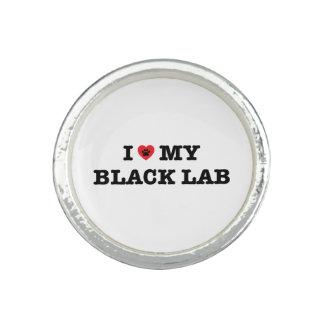 I Herz mein schwarzer Labrador-Ring Ring