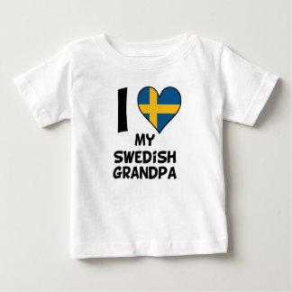 I Herz mein schwedischer Großvater Baby T-shirt