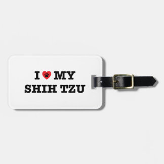 I Herz mein Shih Tzu Gepäckanhänger
