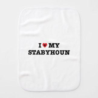 I Herz mein Stabyhoun Baby Spucktuch