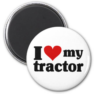 I Herz mein Traktor Runder Magnet 5,1 Cm
