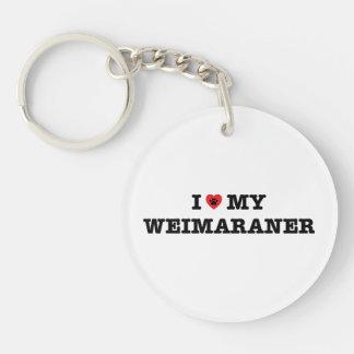 I Herz mein Weimaraner Acryl Keychain Schlüsselanhänger