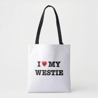 I Herz mein Westie Tasche