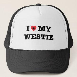 I Herz mein Westie Truckerkappe