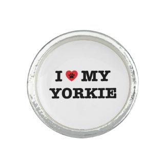 I Herz mein Yorkie Ring