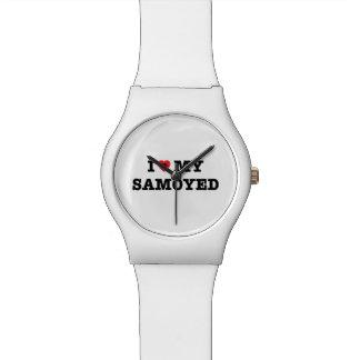 I Herz meine Armbanduhr des Samoyed-May28th