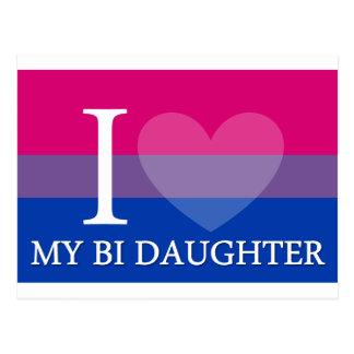 I Herz meine Bi-Tochter Postkarte