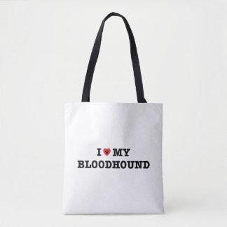 I Herz meine Bluthund-Taschen-Tasche Tasche