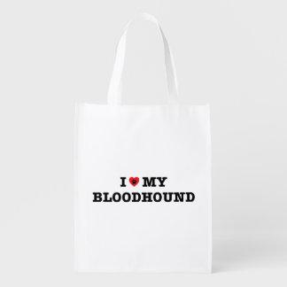 I Herz meine Bluthund-wiederverwendbare Tasche Wiederverwendbare Einkaufstasche