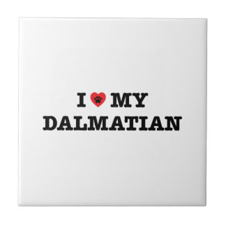 I Herz meine dalmatinische Keramik-Fliese Fliese