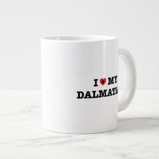 I Herz meine dalmatinische riesige Kaffee-Tasse Jumbo-Tasse