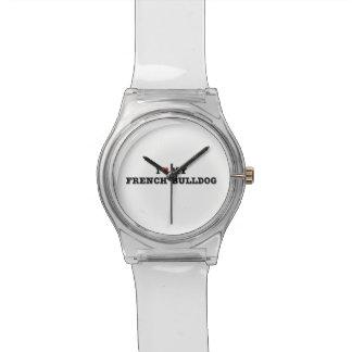 I Herz meine französische Bulldogge Armbanduhr