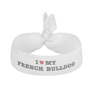 I Herz meine französische Bulldogge Haarband