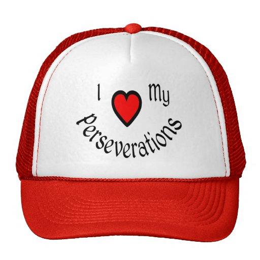 I Herz meine Perseverations Hüte Retrokult Cap