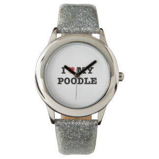 I Herz meine Pudel-Armbanduhr Uhr
