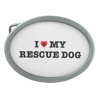 I Herz meine Rettungs-Hundegürtelschnalle Ovale Gürtelschnallen