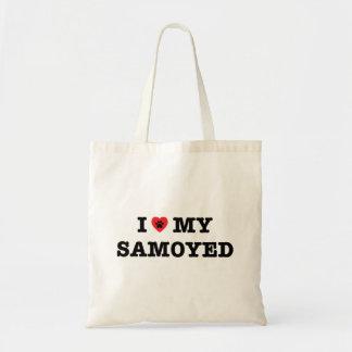 I Herz meine Samoyed-Taschen-Tasche Budget Stoffbeutel