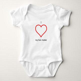 I Herz meine zwei Mammen Onsie Baby Strampler