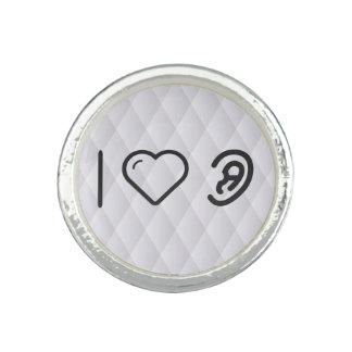 I Herz-Menschen-Ohren Ringe