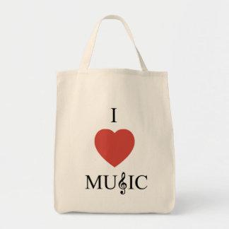 I Herz-Musik-Lebensmittelgeschäft-Tasche Tragetasche