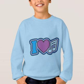 I Herz-Musik Sweatshirt