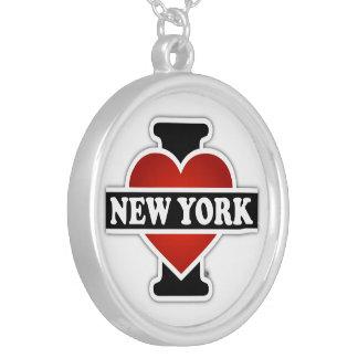 I Herz New York Versilberte Kette