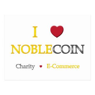 I Herz Noblecoin - Wohltätigkeit-elektronischer Postkarte