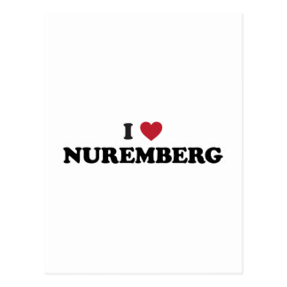 I Herz Nürnberg Deutschland Postkarte