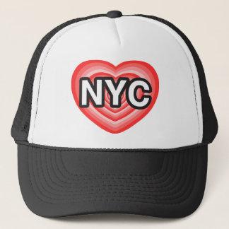 I Herz NYC. I Liebe NYC. New York City. I Herz NY Truckerkappe
