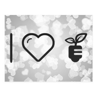 I Herz-ökologische Pflanzen Postkarte