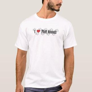 I (Herz) Plott Jagdhunde T-Shirt