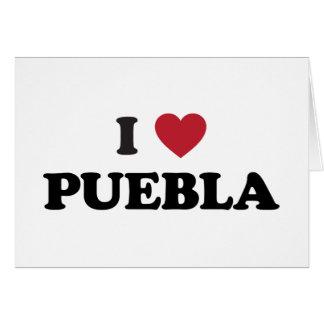 I Herz Puebla Mexiko Karte
