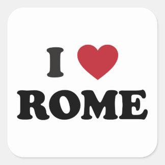 I Herz Rom Italien Quadratischer Aufkleber
