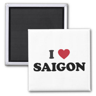 I Herz Saigon Vietnam Ho Chi Minh Stadt Quadratischer Magnet