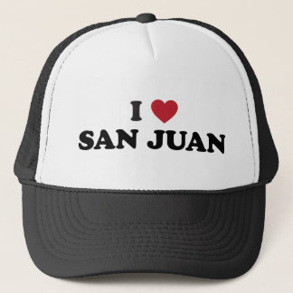 I Herz San Juan Puerto Rico Truckerkappe