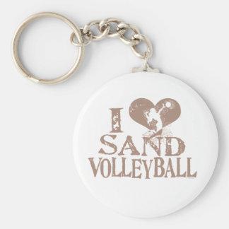 I Herz-Sand-Volleyball Schlüsselanhänger