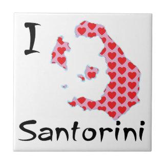 I Herz Santorini Keramikfliese