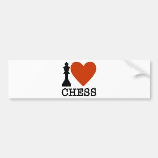 I Herz-Schach Autoaufkleber