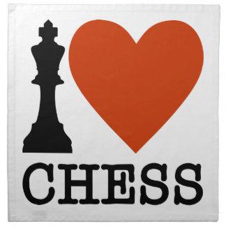 I Herz-Schach Serviette