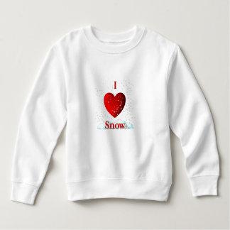 I Herz-Schnee Sweatshirt