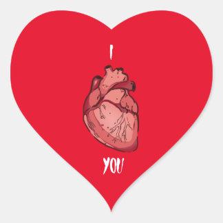 I Herz Sie Herz-Aufkleber