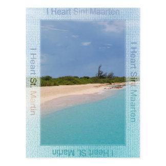I Herz Sint Maarten Postkarte