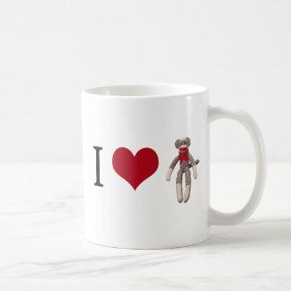 I Herz-Socken-Affe Kaffeetasse