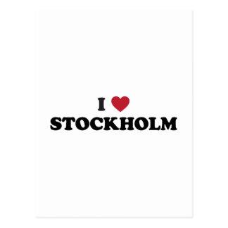 I Herz Stockholm Schweden Postkarte