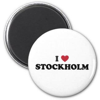 I Herz Stockholm Schweden Runder Magnet 5,1 Cm