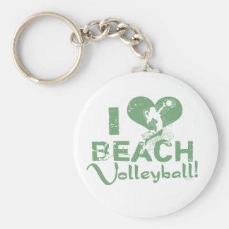 I Herz-Strand-Volleyball Schlüsselanhänger