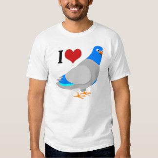 I Herz-Tauben-niedlicher Tauben-T - Shirt