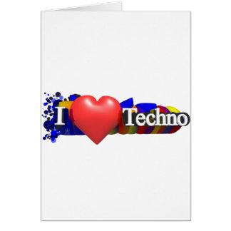 I Herz Techno #1 durch fameland Grußkarte