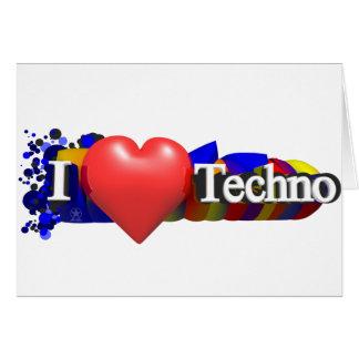 I Herz Techno #1 durch fameland Grußkarten