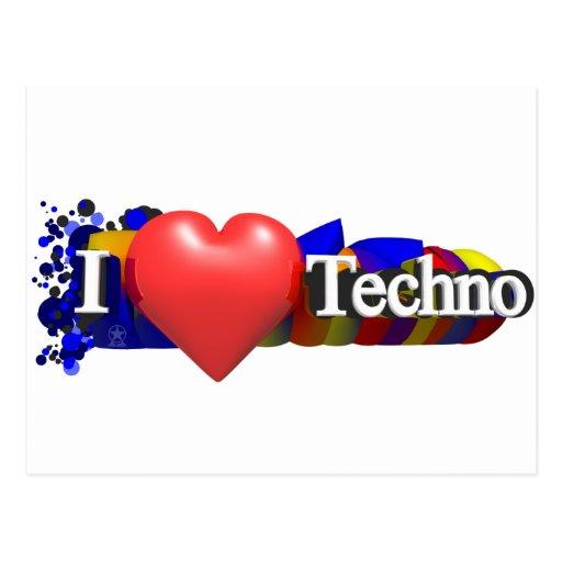 I Herz Techno #1 durch fameland Postkarte